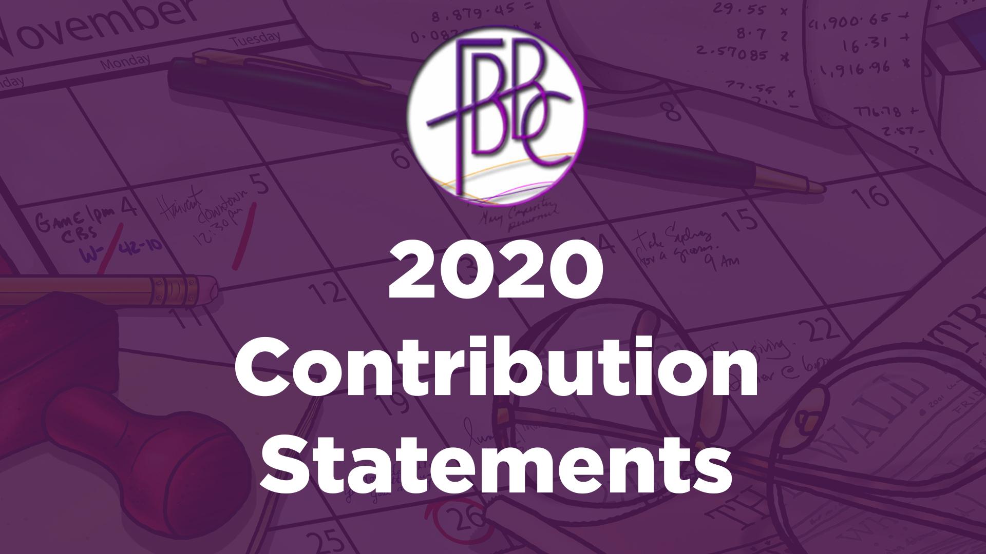 2020 Contribution Statements
